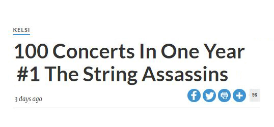 100 Concerts in 1 Year #1 The String Assassins
